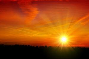 Summer sky sunset.