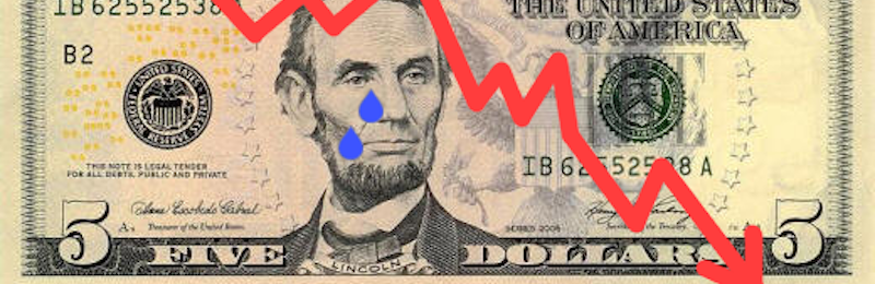 lincoln-dollar-bill-losing-value